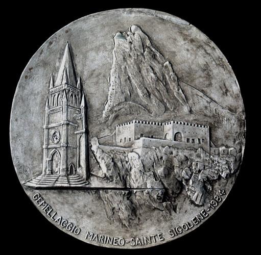 Medaglia per il gemellaggio tra il Comune di Marineo (PA) e il Comune francese di Saint Sigolene