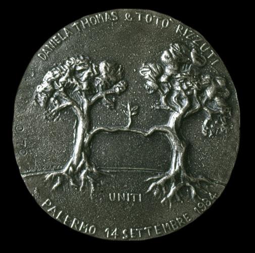 Medaglia per il matrimonio di Daniela e Salvatore Rizzuti