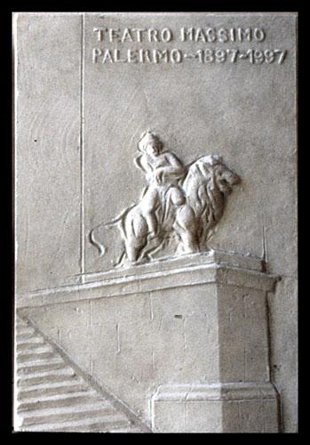 Progetto di targa per il restauro del Teatro Massimo di Palermo
