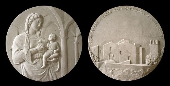 Progetto di medaglia per l'inaugurazione della Cattedrale di Caltabellotta restaurata