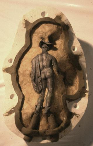 Rifacimento in resina di bronzetti romani del Museo di Kamarina