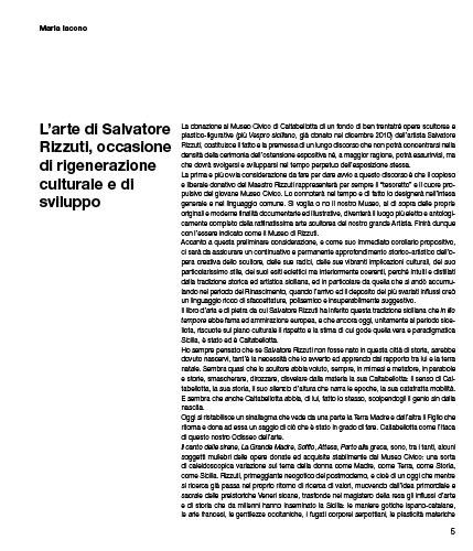 L'arte di Salvatore Rizzuti, occasione di rigenerazione culturale e di sviluppo
