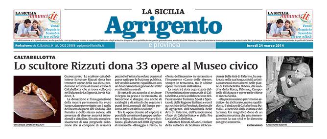 Rizzuti dona 33 opere al Museo civico