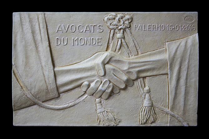 Targa per il premio Nobel Mohamed Fadhel Mahfoudh